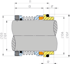 Beispielzeichnung für Metallfaltendichtungen